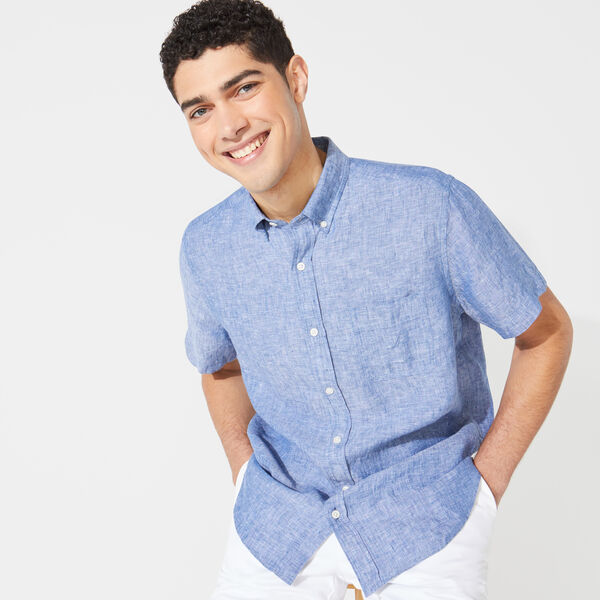 CLASSIC FIT SHORT SLEEVE LINEN SHIRT - Limoges