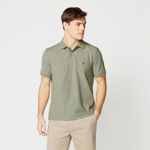 CLASSIC FIT DECK KNIT POLO - Billiard