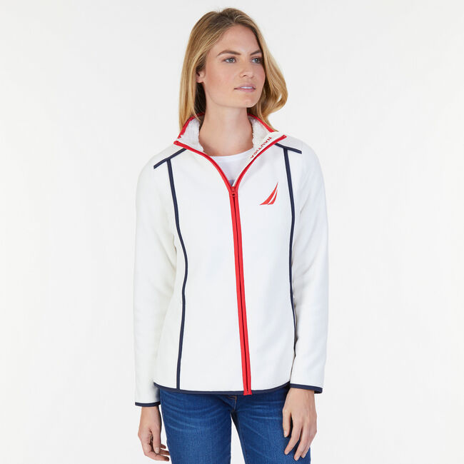 Nautex Full-Zip Heritage Jacket,Marshmallow,large