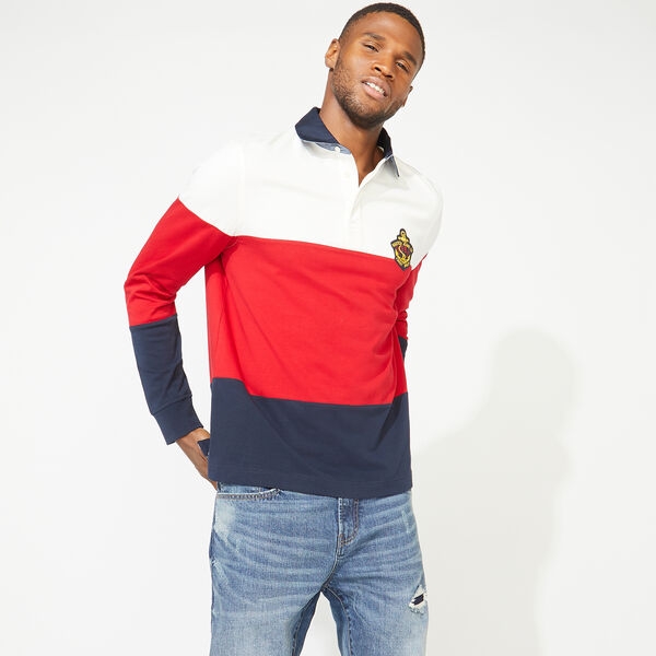 NAUTICA JEANS CO. COLORBLOCK LONG SLEEVE RUGBY - Sail White