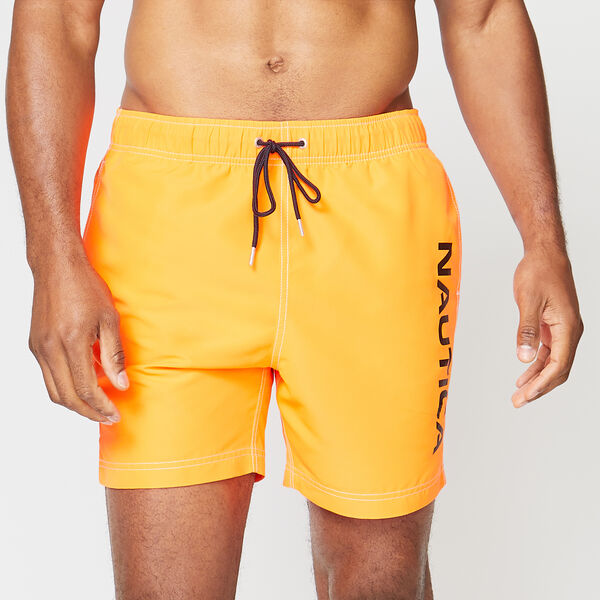 "6"" SOLID NEON LOGO SWIM - Livng Coral"