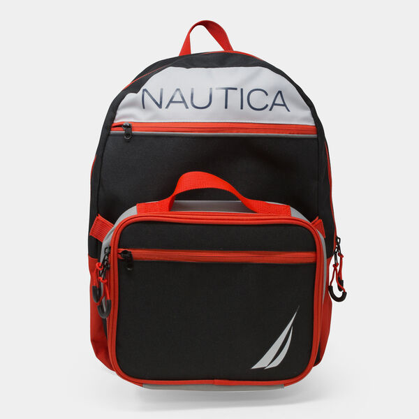 J-CLASS LOGO GRAPHIC BACKPACK WITH LUNCH BAG - Black