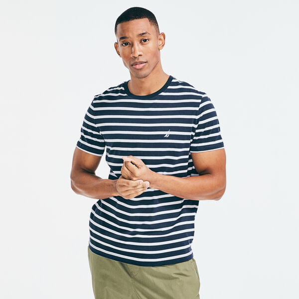 STRIPED J-CLASS T-SHIRT - Navy