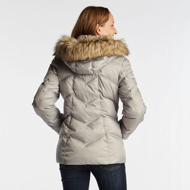 QUILTED PUFFER COAT,Haze Grey Heather,large