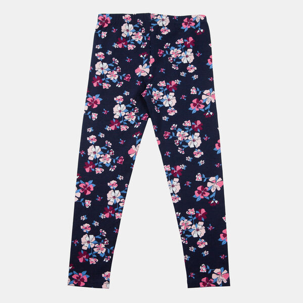 TODDLER GIRLS' FLORAL PRINT LEGGING (2T-4T) - Navy