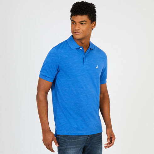 Short Sleeve Classic Fit Performance Polo - Blue