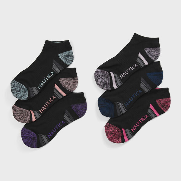 6-PACK HEATHERED ATHLETIC SOCK IN BLACK - Multi