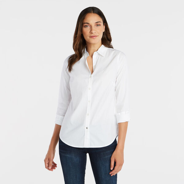 PERFECT SHIRT IN STRETCH COTTON - Bright White