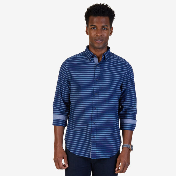 Nautica Classic Fit Horizontal Stripe Shirt - Marine Blue
