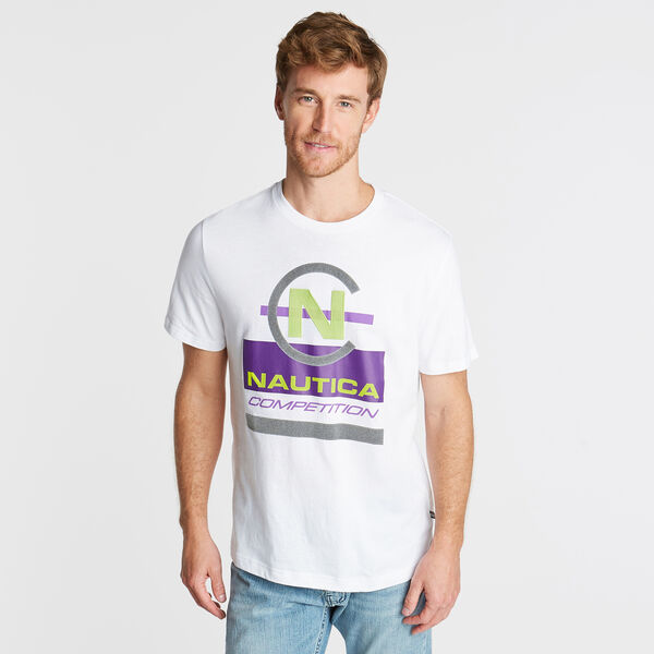 NAUTICA COMPETITION GRAPHIC T-SHIRT - Bright White