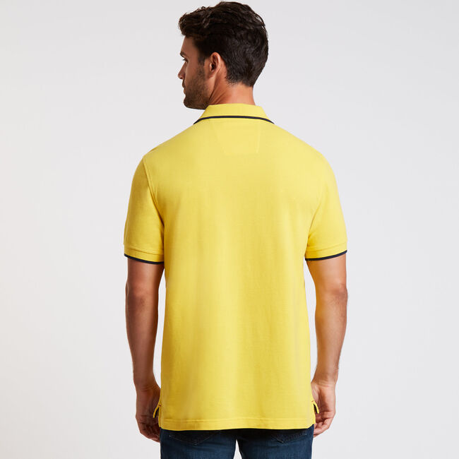 Multi-Logo Classic Fit Short Sleeve Polo,Knot Yellow,large