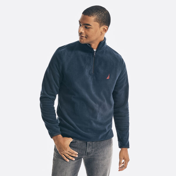 NAUTEX PERFORMANCE QUARTER-ZIP PULLOVER - Navy
