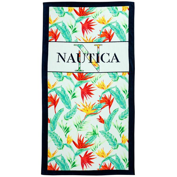 NAUTICAL PARADISE BEACH TOWEL - Ice Blue