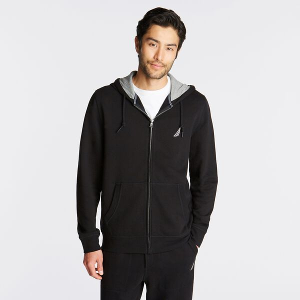 BIG & TALL FULL ZIP HOODIE - True Black