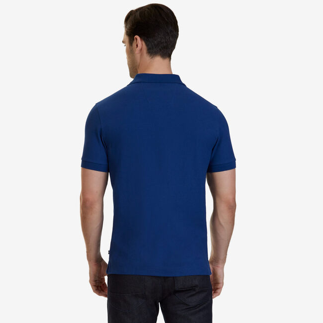 Slim Fit Performance Polo Shirt,Estate Blue,large