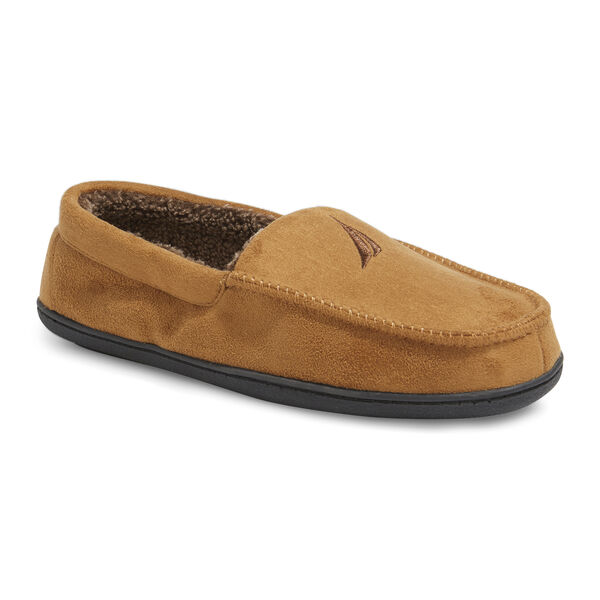 MICROSUEDE FLEECE LINED SLIPPERS - Camel