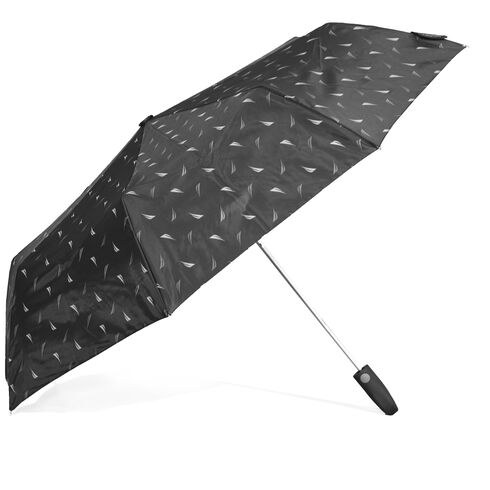 Large Auto-Open Umbrella - True Black