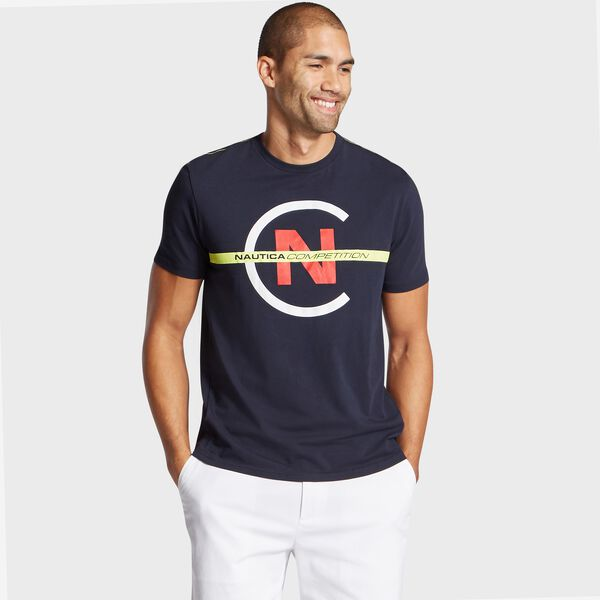 Big & Tall Competition Short Sleeve Crewneck T-Shirt - Navy