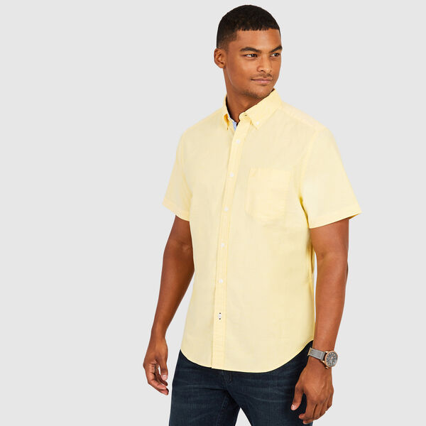 CLASSIC FIT STRETCH SHORT SLEEVE OXFORD SHIRT - Marigold