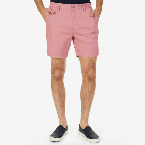 "Stretch Twill Flat Front Classic Fit Shorts - 6"" Inseam - Desert Rose"