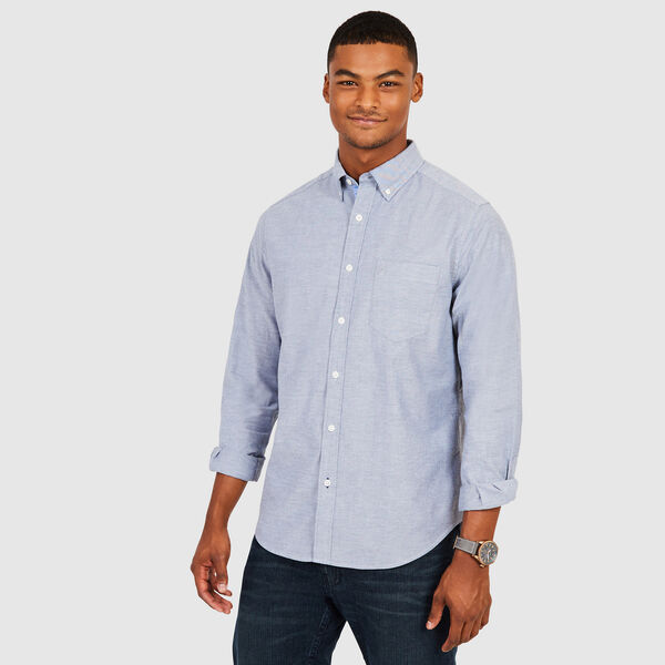 CLASSIC FIT LONG SLEEVE OXFORD SHIRT - Navy