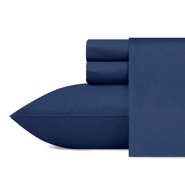 CAPTAINS  SHEET SET IN BLUE - Pure Dark Pacific Wash