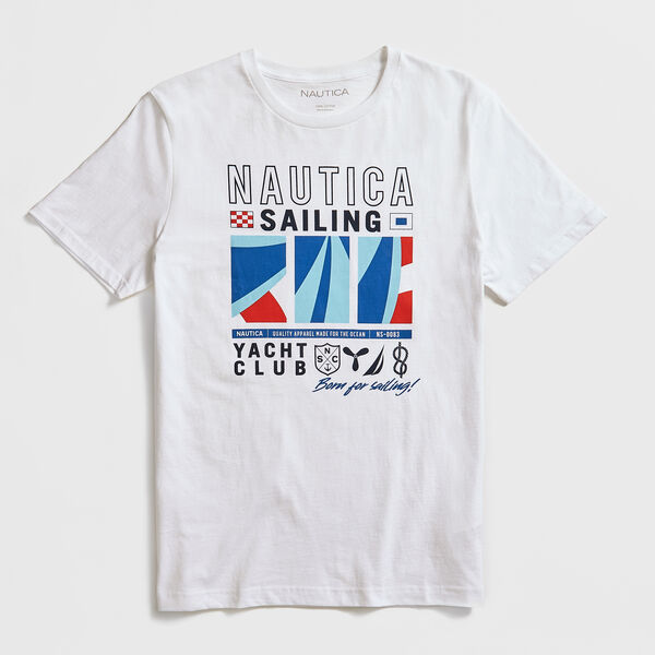 FLAG GRAPHIC T-SHIRT - Bright White