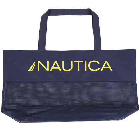 Mesh Shopper Bag - Navy