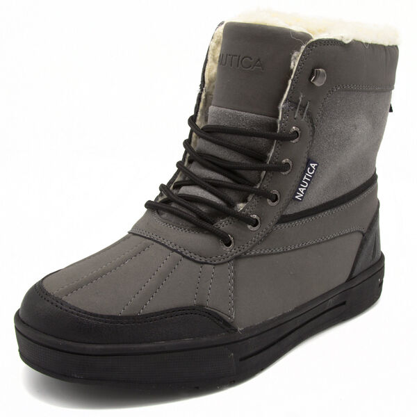 Lockview Heather Lace-Up Boots - Dark Black Heather