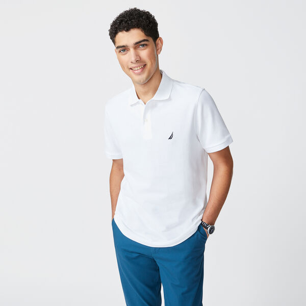 CLASSIC FIT PERFORMANCE PIQUE POLO - Bright White