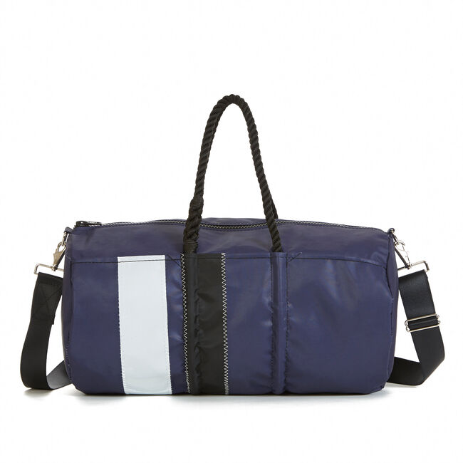 Sea Bags Striped Duffel,Navy,large