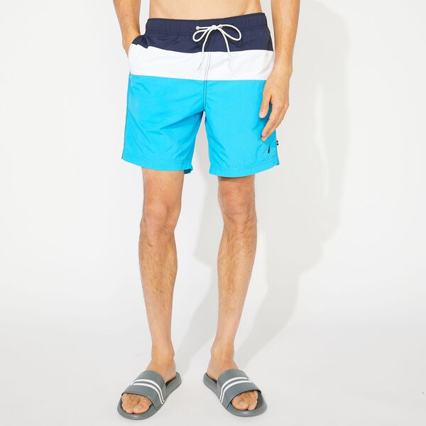 "8"" COLORBLOCK  SWIM TRUNKS - Hawaiian Ocean"