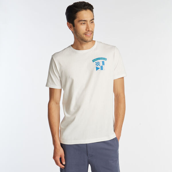 COMPETITION SAILING GRAPHIC T-SHIRT - Bright White