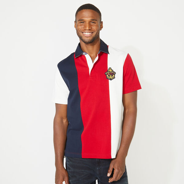NAUTICA JEANS CO. VERTICAL STRIPE POLO - Nautica Red