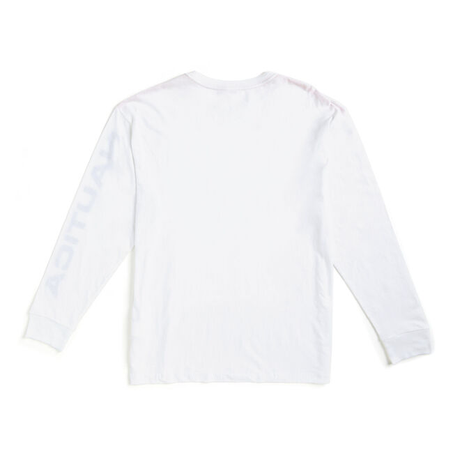Lil Yachty by Nautica Long Sleeve Competition Tee,Bright White,large