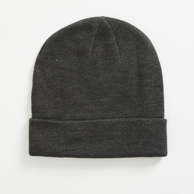 LOGO PATCH CUFFED BEANIE,Grey Heather,large