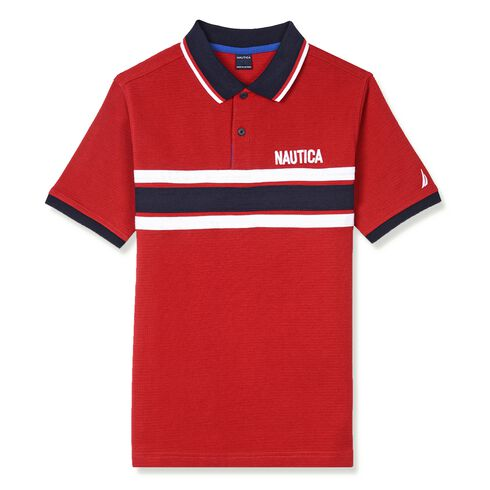 Little Boys' Clarence Striped Heritage Polo (4-7) - Dark Acacia