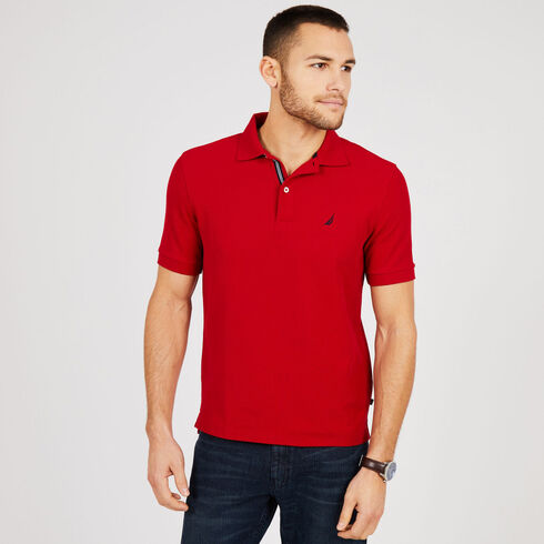 Short Sleeve Classic Fit Performance Deck Polo - Nautica Red