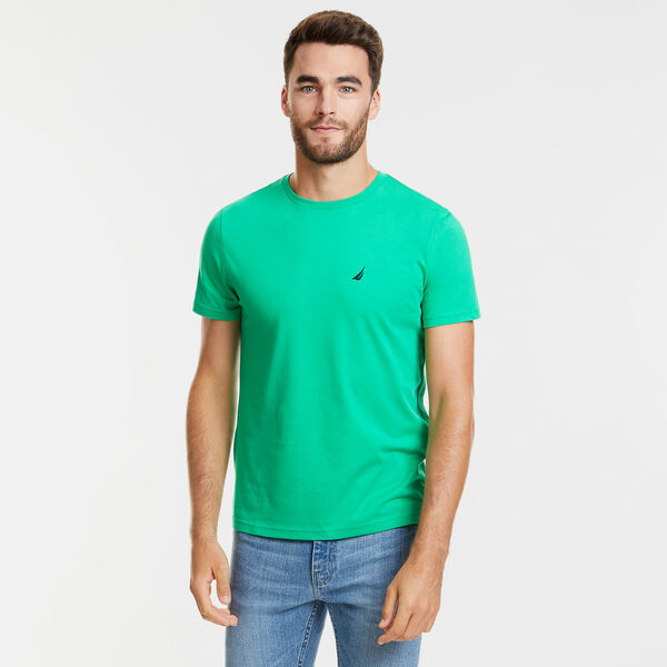 Solid Short Sleeve Crewneck T-Shirt - Floating Moss