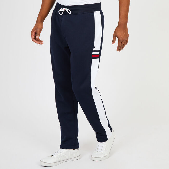 Retro Stripe Joggers,Navy,large