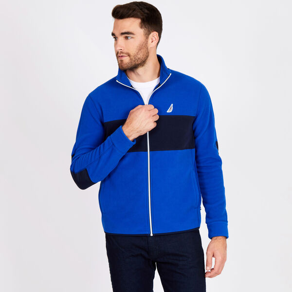Big & Tall Colorblock Full-Zip Nautex Jacket - Bright Cobalt