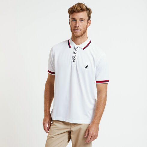 SHORT SLEEVE PERFORMANCE POLO IN CLASSIC FIT - Bright White