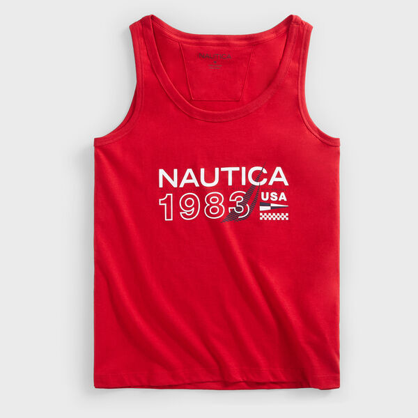 1983 USA GRAPHIC TANK TOP - Nautica Red