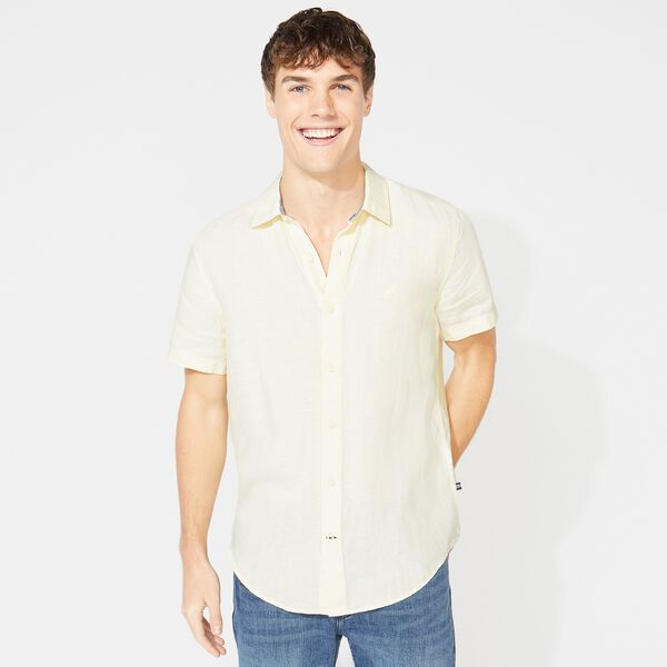 CLASSIC FIT LINEN SHIRT - French Vanilla