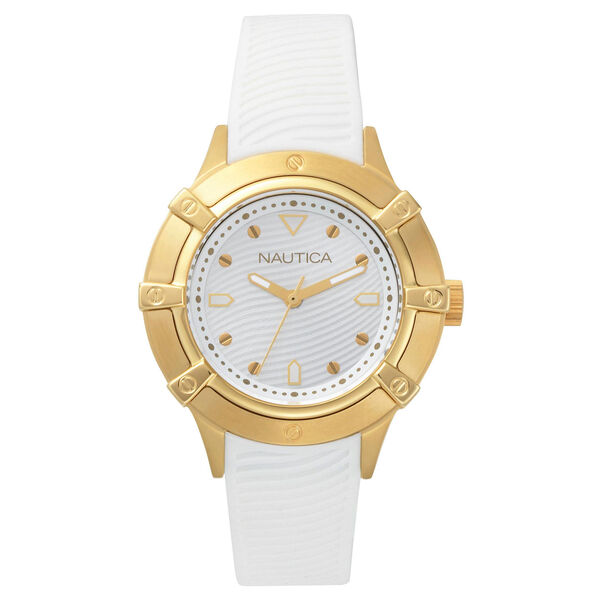 Capri White Silicone Watch - Bright White