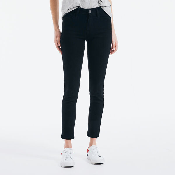 NAUTICA JEANS CO. MID-RISE SKINNY DENIM - True Black