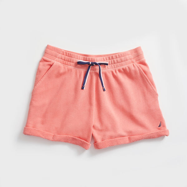 GARMENT DYED KNIT SHORT - Pale Coral