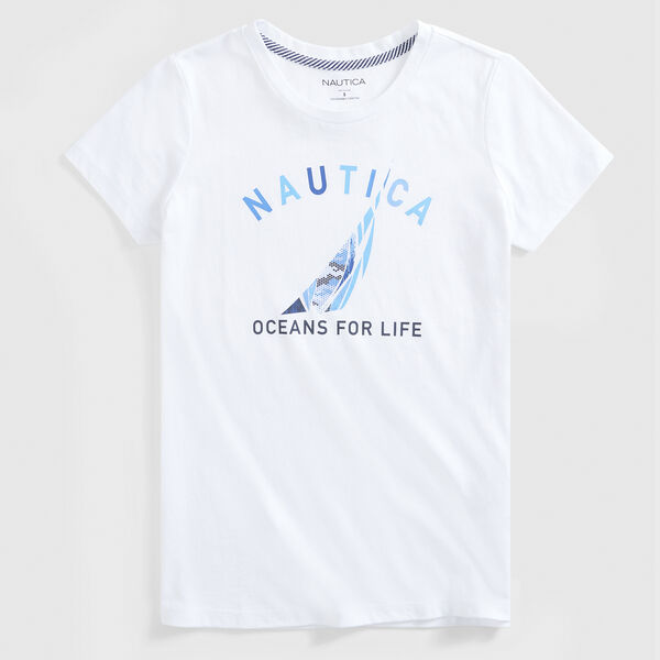 SUSTAINABLY CRAFTED OCEANS FOR LIFE GRAPHIC T-SHIRT - Bright White