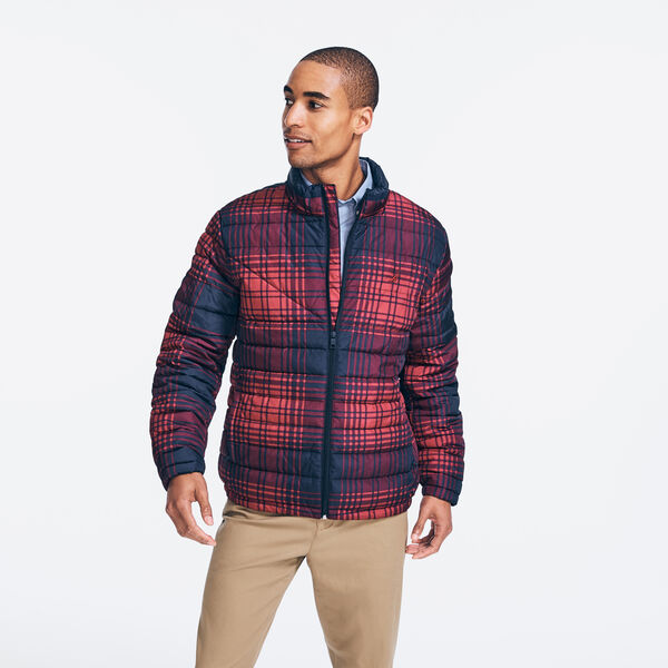 THERMASPHERE PRINTED PLAID BOMBER - Lotus