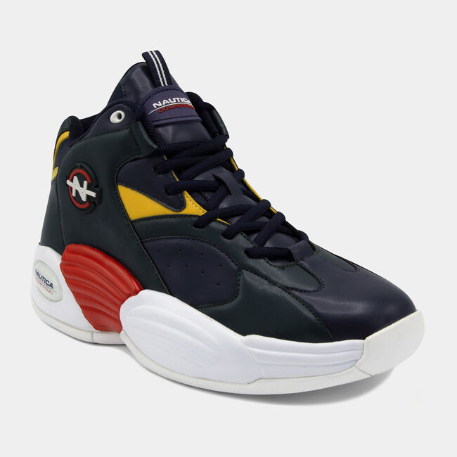NAUTICA COMPETITION REBELL HIGH TOP IN NAVY,Navy,large